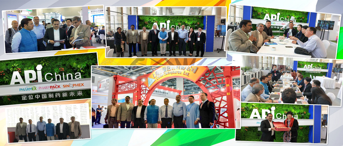 CG Mr. Anil Rai, with a high level delegation from India attended the API exhibition in Hangzhou. They explored ways to strengthen cooperation with Chinese API manufacturers and to adopt best practices from China to strengthen Indian Pharma sector..