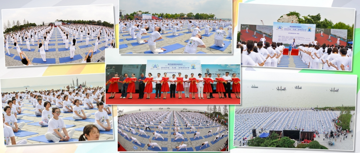 4th International Day of Yoga Celebrations in Wuxi – 2000 Yoga enthusiasts participated at Taihu Lake on June 16