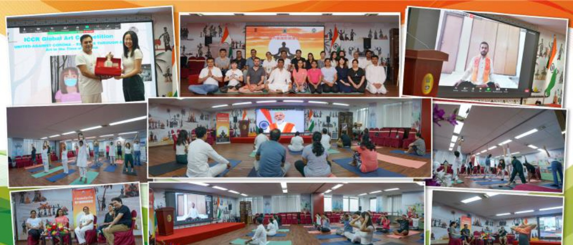 Celebrations of Yoga Day at Shanghai
