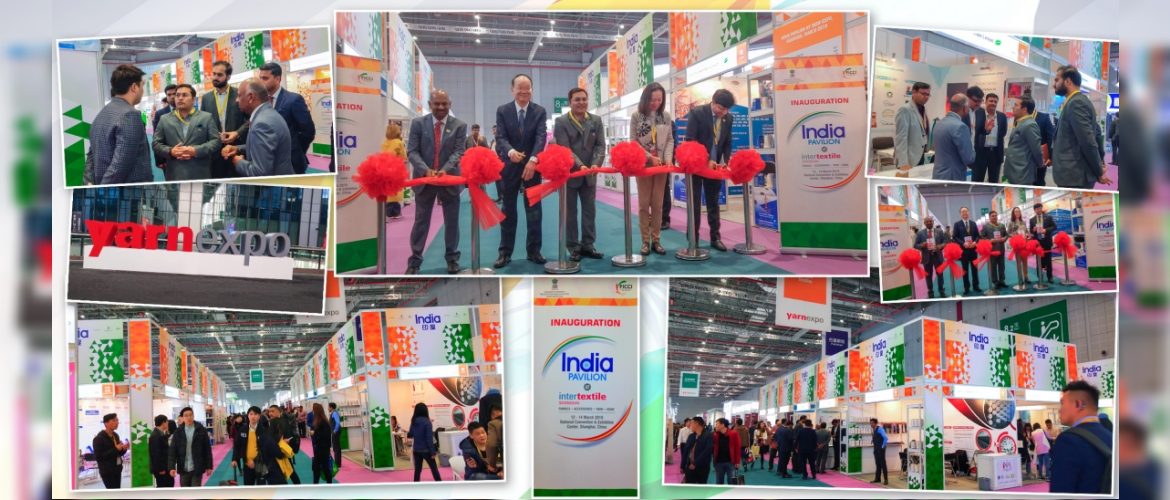 Inter-textile trade fair 2019: CG Mr Anil Rai, inaugurated the India Pavilion. India stands out as the largest exhibitor at the fair. India supplies about 26% of China's demand of cotton yarn. Participants shared their valuable insights & gave inputs about the Chinese market. (March 12, 2019)