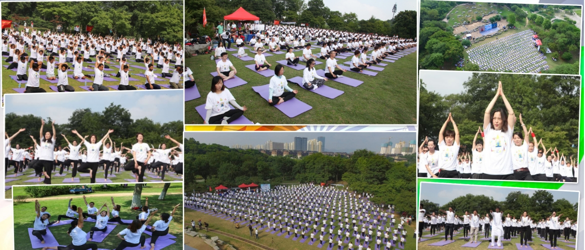IDY event #7 at Zhenjiang. Over 1000 yoga enthusiasts gathered at 