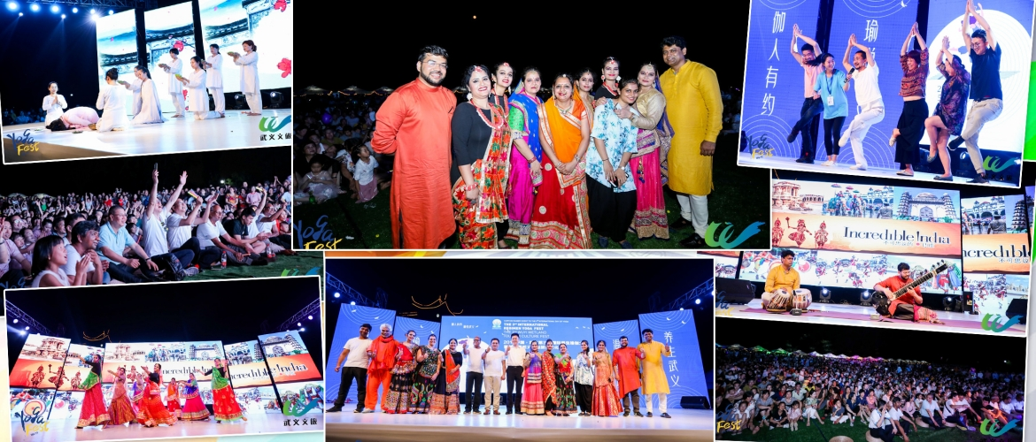 Chinese audience at Wuyi were thrilled to see a Indian cultural 