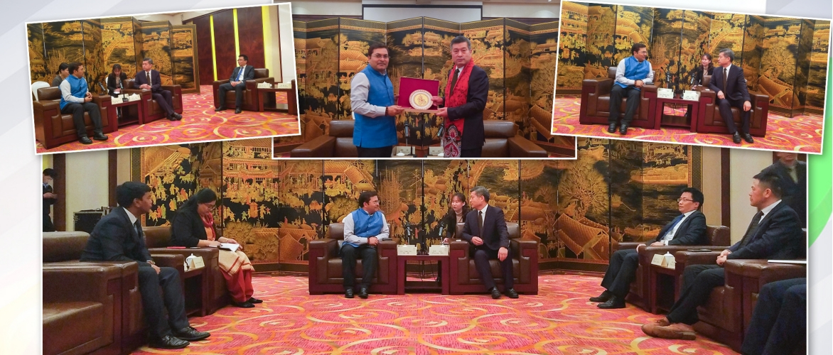 CG Anil Rai met with the Chairman of Standing Committee of Zhoushan Municipal People's Congress Mr. Zhong Da. Mr. Zhong briefed CG about the economic development of Zhoushan. 