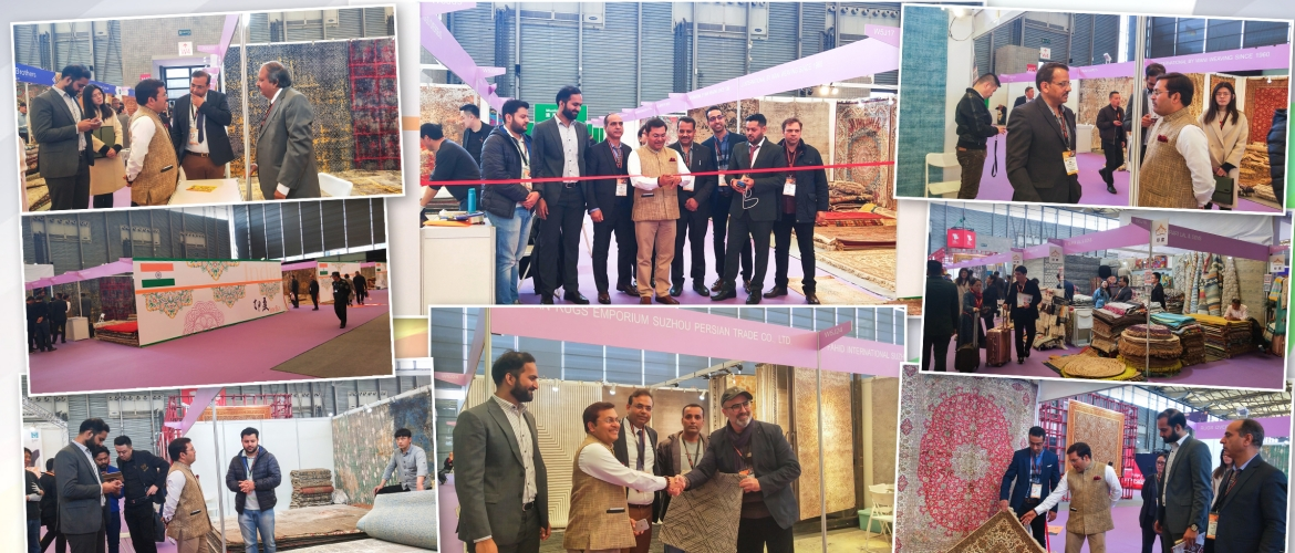 CG Anil Rai inaugurated the India Pavilion at the Carpet Expo, held at Shanghai on March 26, 2019. Over 31 Indian companies had setup stalls to showcase the rich and diverse quality of carpets from India. 